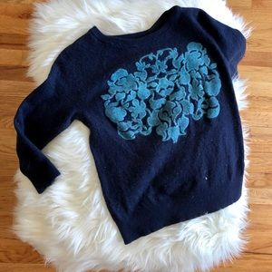J Crew size small blue half sleeve sweater